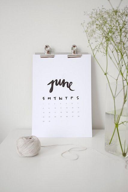 Free printable 2014 Calendar by Jasmine Dowling | A Pair & a Spare