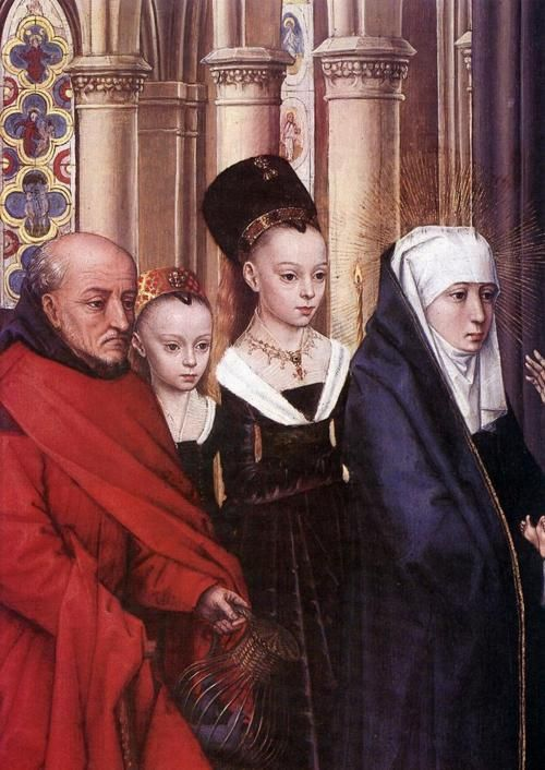 ❤ - HANS MEMLING (1430 - 1494) -  The Presentation in the Temple (detail). National Gallery of Art, Washington, DC, USA.