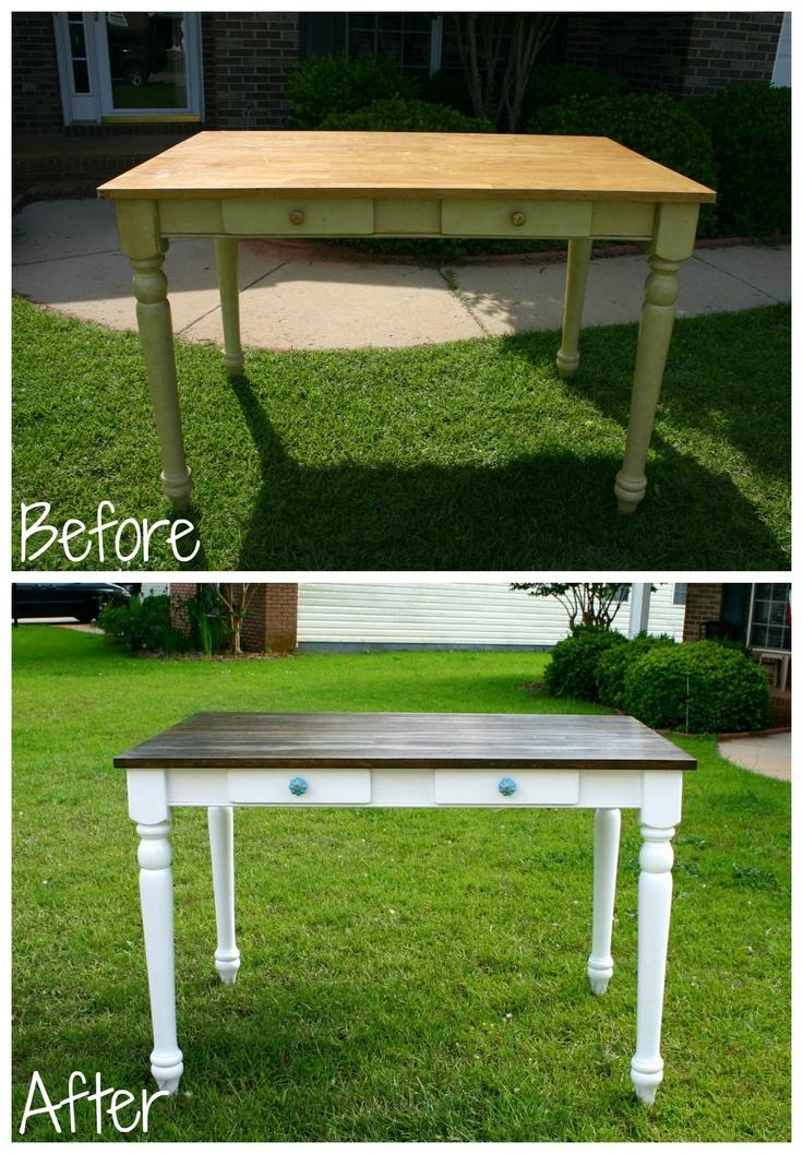 Refinished Desk for @Lauren Bartley  www.facebook.com/BleakToChicFurniture