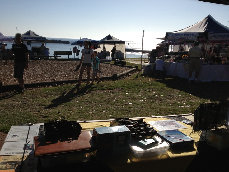 The view from Gametag's stand at the Shellharbour village Rotary Market.    A hard day in paradise Save stress put all your DS games on a Gametag, DS game case and holder.http://www.youtube.com/watch?v=Wcy5hUlZuc4