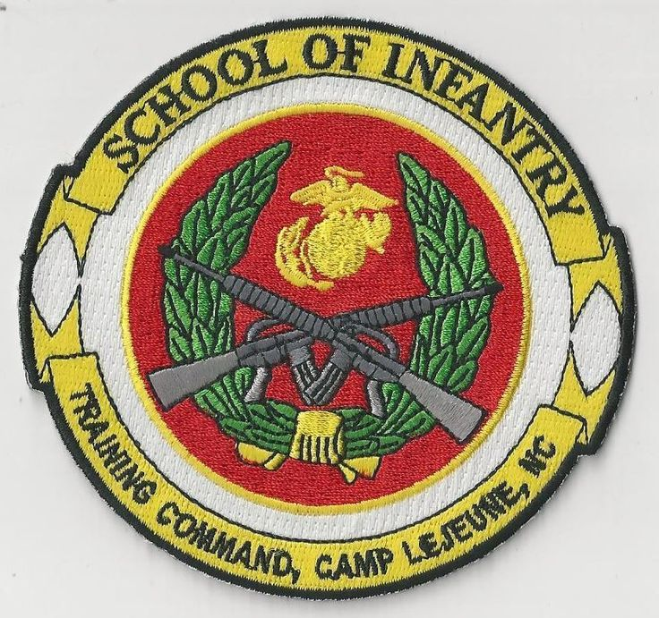 USMC PATCH - SCHOOL OF INFANTRY, TRAINING COMMAND, CAMP LEJUNE, NC