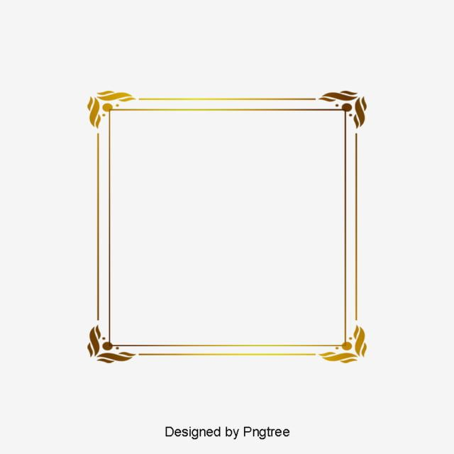 Simple Gold French Pattern Border Png Picture Png Free Download Png And Psd French Pattern Easy Frame French Clipart