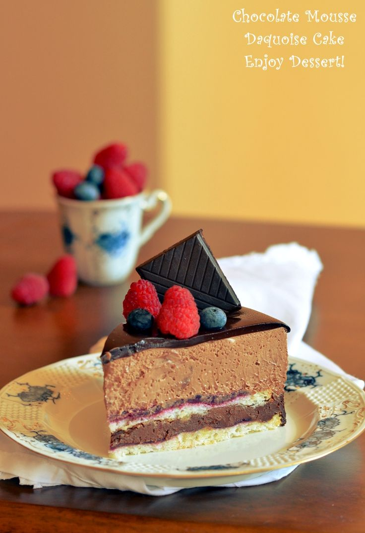 Chocolate Mousse Daquoise Cake