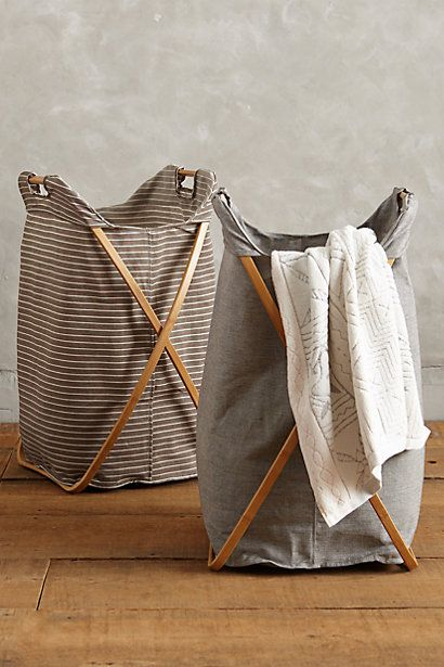 Tall Cross-Fold Laundry Basket