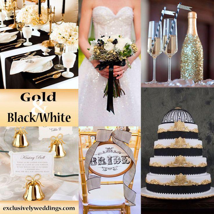 Black And Gold Wedding: Black, White Gold Wedding Theme