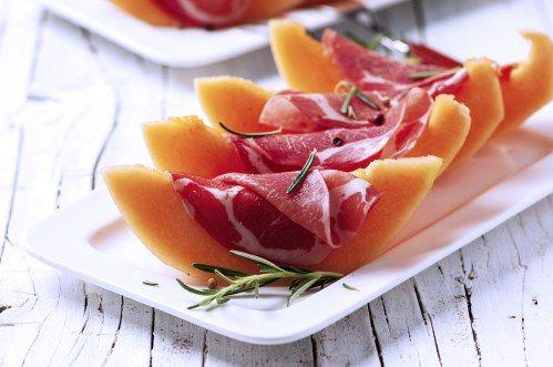 Gerichte zum Abnehmen: Melone mit Schinken