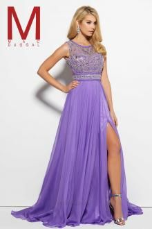 Feel enchanting with the Spring 2016 Mac Duggal Prom Dress Collections.   Purple Prom Dress  Style 10095M