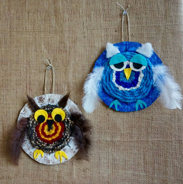 I thought I would feature some textile work this week....first up these woven owls.   I've been trying to come up with projects that inc...