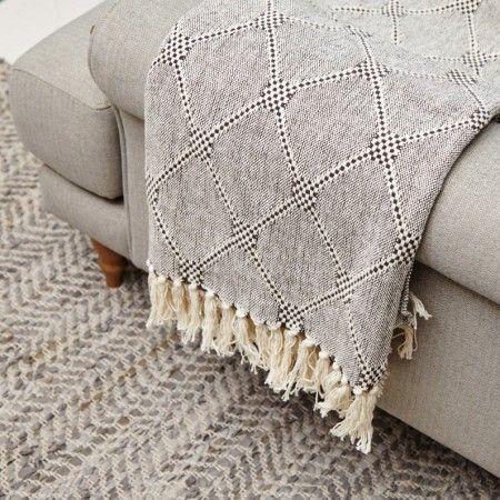 Grey Diamond Throw - View All Soft Furnishings - Soft Furnishings - Sofas & Upholstery