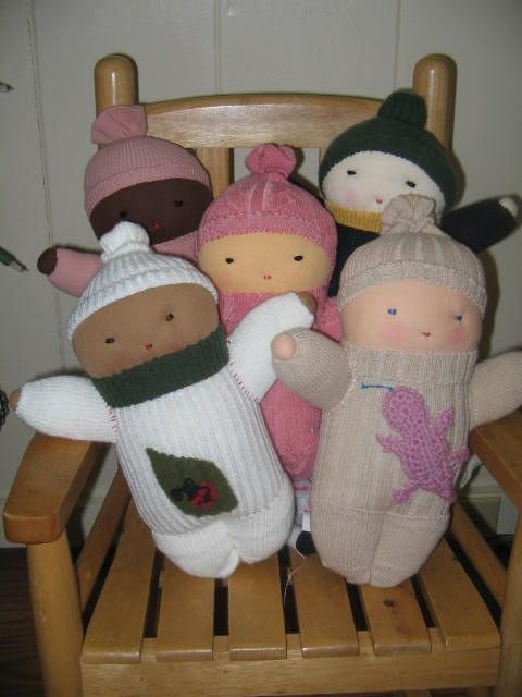 sock babies on etsy by dmollison.