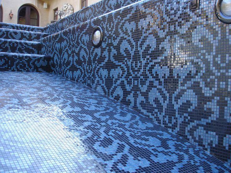 64 best Cool Pool Mosaics images on Pinterest | Swimming pools ...