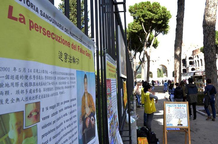 Turistas chineses na Itália renunciam ao Partido Comunista   #China, #Coliseu, #FalunGong, #Itália, #MinghuiOrg, #Movimento, #PartidoComunistaChinês, #Renúncia, #Tuidang, #Vaticano
