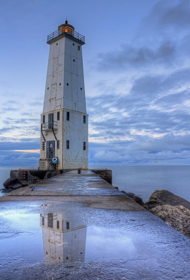 Frankfort Lighthouse Canvas Print / Canvas Art by Twenty Two North Photography