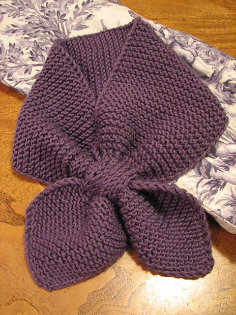 Ravelry: Knitted Neck Scarf pattern by Martha Stewart