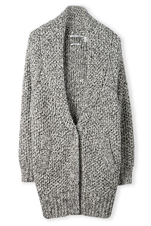Oversized Tweed Cardigan