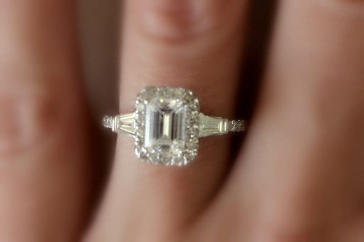 Beautiful ring! 1.60 Carat Emerald Cut Diamond Engagement Ring by ginaamirjewelry, $4,200.00
