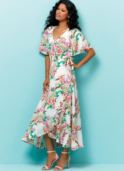 b730392033f1d Looking for a dress sewing pattern? The Butterick Wrap Dress B6554 is  perfect, read sewing pattern reviews here!