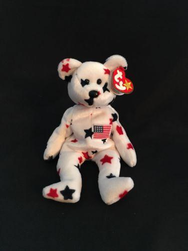 94d7a4df3b5 Ty Beanie Baby Glory Bear - (USA Stars Teddy Bear) ORIGINAL RETIRED ...