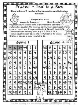 2 simple games to review multiplication ~ Free.