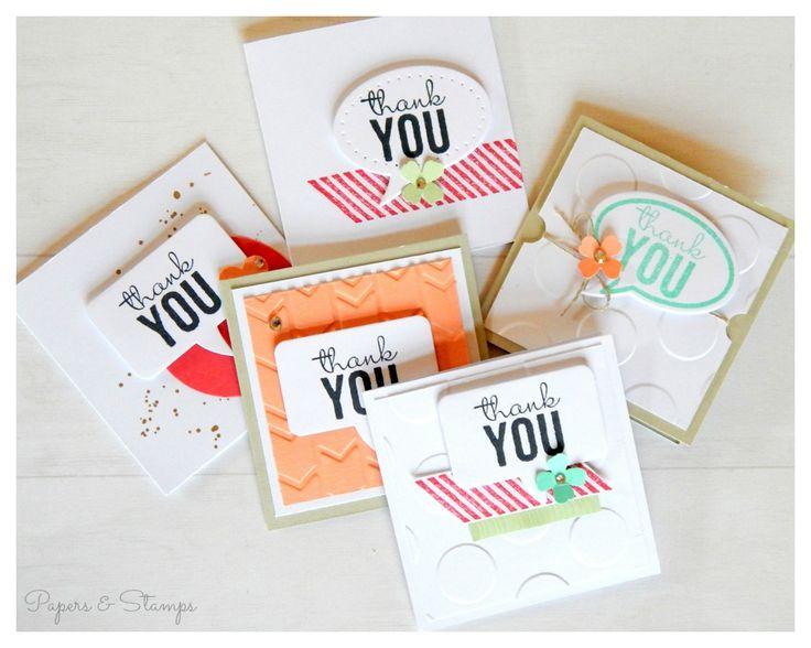 Karte °28/2015 - Mini-Dankeskarten mit den Framelits Formen Sprechblasen - Papers & Stamps| Mandy Grobosch Unabhängige Stampin' Up! Demonstratorin|