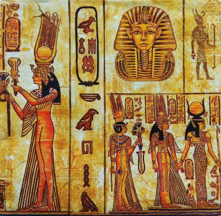 египетском стиле картинки для декупажа этого года
