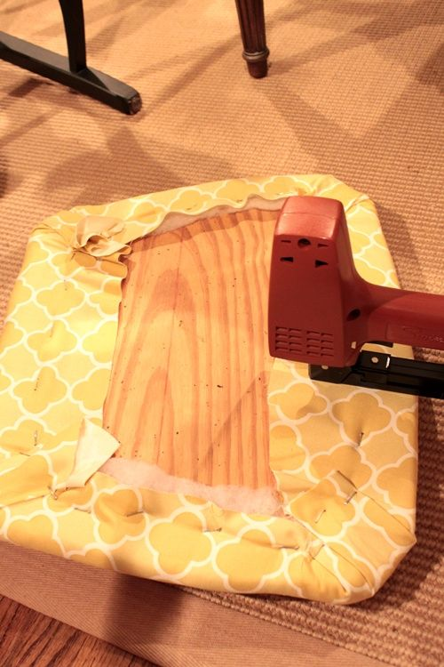 FURNITURE: instructions on How to re-cover Chair Seats... May need this to refurbish some second hand chairs next year