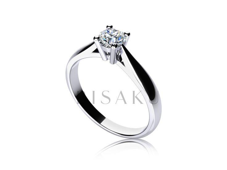 C12 Ideální a velmi oblíbený model klasického zásnubního prstenu, který zdobí čtyři štíhlé krapny pevně obepínající solitérní kámen. Prsten je příjemně zaoblený a směrem ke korunce se tvar prstenu výrazněji zužuje. Tento model je ideální pro budoucí kombinaci se snubním prstenem. #bisaku #wedding #rings #engagement #svatba #zasnubni #prsteny