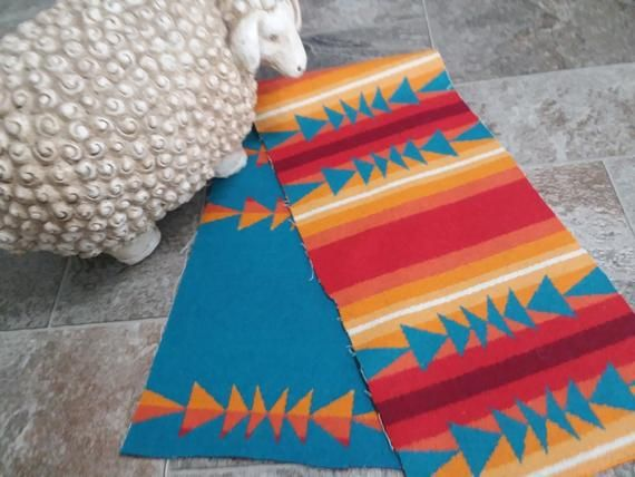 Receive Free Shipping   on 3 Items or more REMNANT New Fabric Pendleton Wool Blanket Wt
