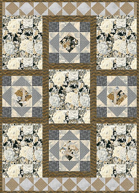 Imperial terrace quilt kit from Robert Kaufman fabric, made by Pat