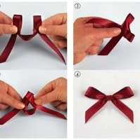 How to tie a bow. Perfect for the sash!