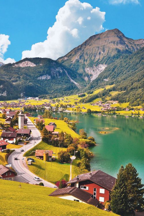 Lungern in canton of Obwalden, Switzerland