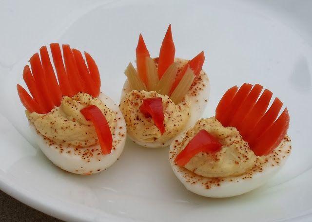 My Attempt At Deviled Egg Turkeys... | thanksgiving ...
