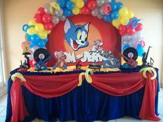 Tom & Jerry Birthday Party Ideas | Photo 12 of 13