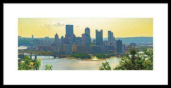 Framed Print of Pittsburgh Skyline. Living Room De…