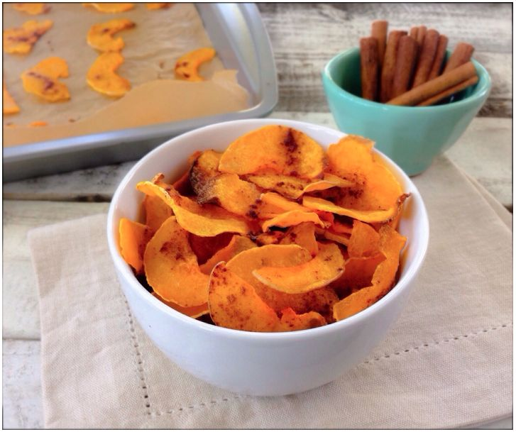 BUTTERNUT   SQUASH   CHIPS With many of you stuck in temperatures below zero, what's there to do on the weekend but bake? :-) These Butternut Squash Chips make a scrumptious, healthy alternative to chips. They're loaded with the skin-friendly Vitamin A of butternut squash and omegas of Coconut Oil, plus antioxidants of Cinnamon… Find recipe here..