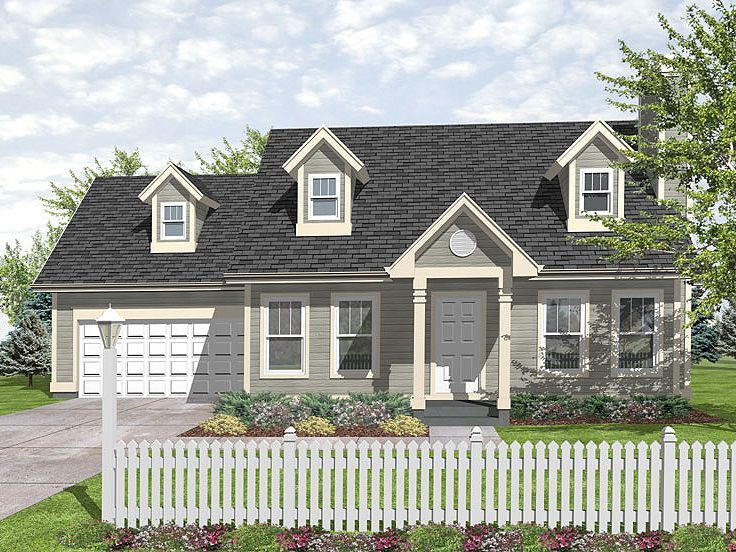 Cape Cod House Plan, 016H-0020