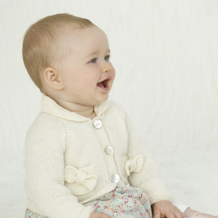 Buttons & Bows cardie - knitted in Sublime baby cashmere merino silk 4 ply