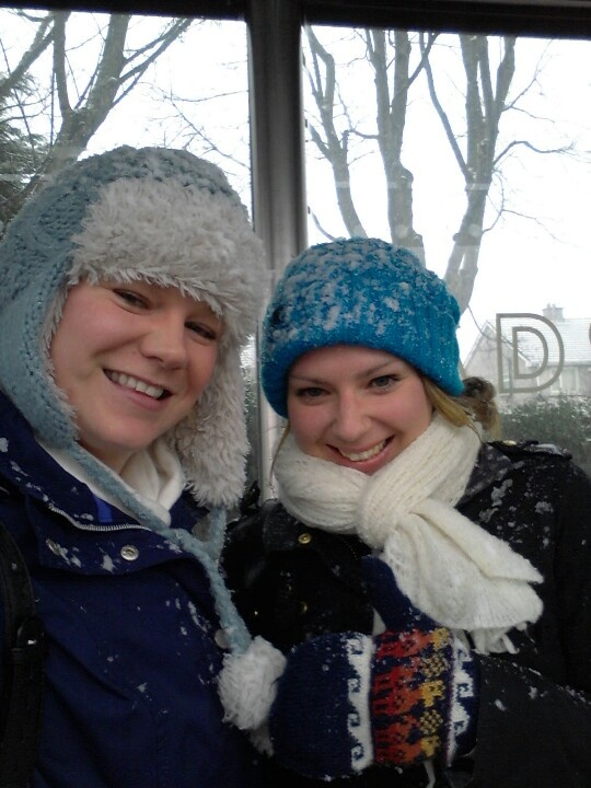 30 days - 30 photos. Day 23. 23rd Feb 2013. Claire and I braving the snow to go and watch the rugby. Pic doesn't really  do justice to just how covered in snow we were!