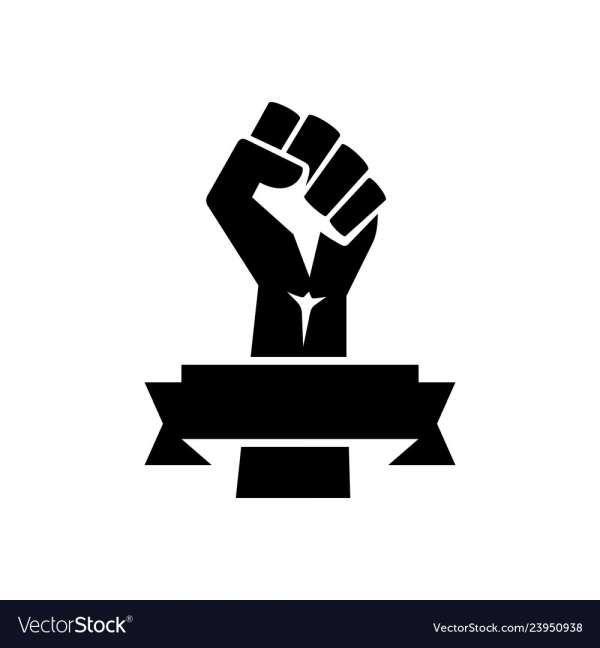 10 Black Fist Vector Black Fist Black Silhouette Black Power Fist