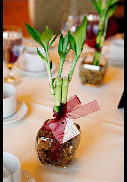 Bamboo wedding favor