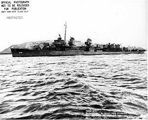 USS Trathen (DD-503) Fletcher-class destroyer named for Lieutenant Commander James Trathen, Commander of USS Midnight 1861, American Civil War.