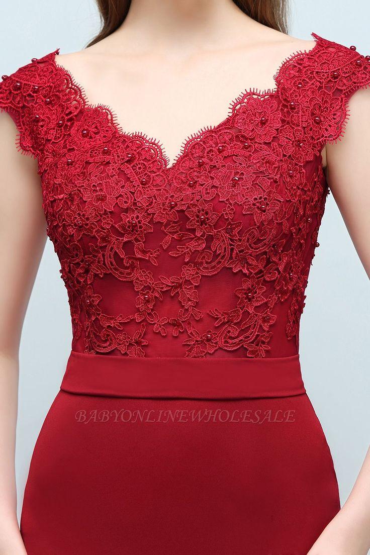 JOURNEY | Mermaid Floor Length V-neck Appliques Beads Prom Dresses with Sash | www.babyonlinewholesale.com