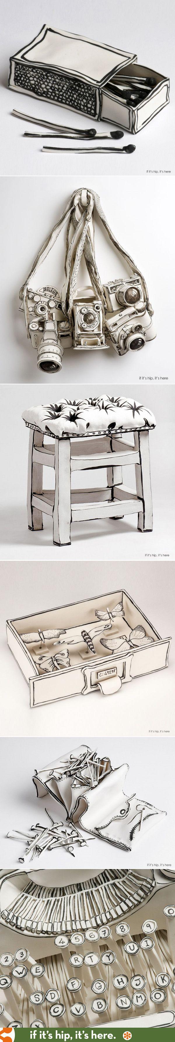 The illustrative sculptural ceramics of Katharine Morling.