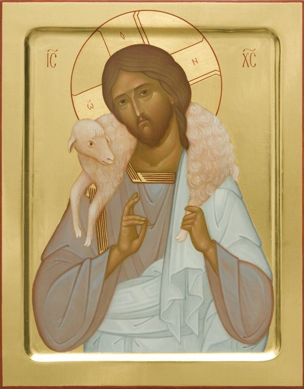 Dearest Jesus Christ the Good Shepherd  - Icons from the Workshop of St. Elisabeth Convent - Handmade - Hand Painted - Visit the website for more information