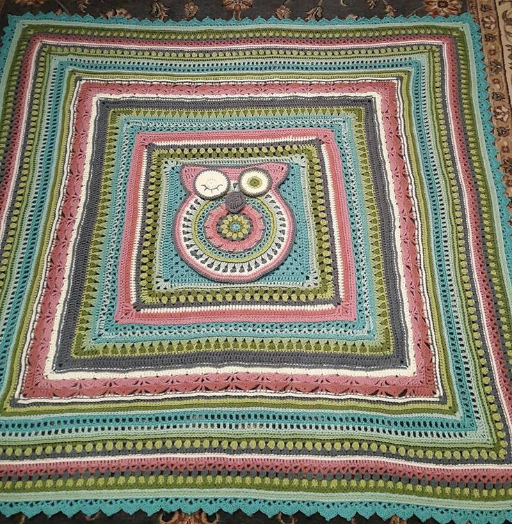 SUNSHINE OWL CAL - such a fun, beautiful pattern - this one I will be keeping for me!