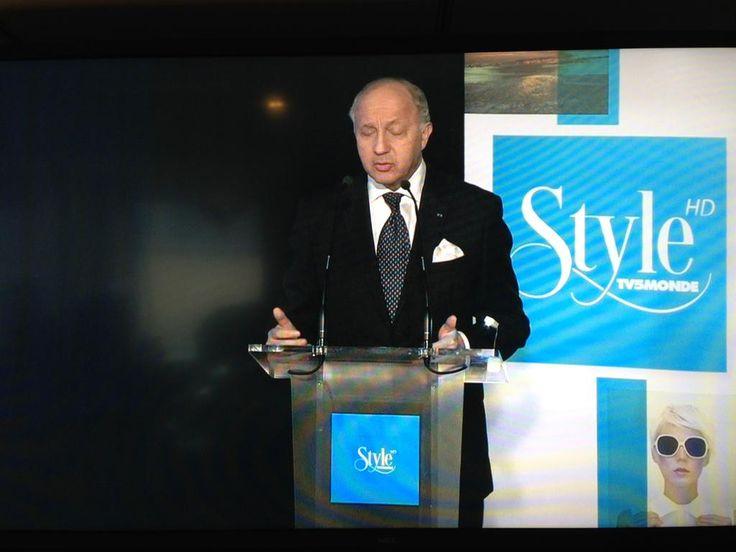 Laurent Fabius lance #Style la nouvelle chaîne mondiale #ArtDeVivre de #Tv5monde
