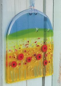 Poppy Field Panel - 96 COE Project - Glass Fusing Projects At Delphi Glass