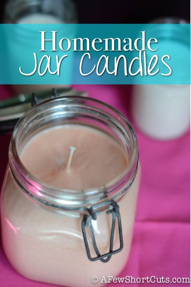 Save money and check out these Homemade Jar Candles. Takes only minutes to make! #diy
