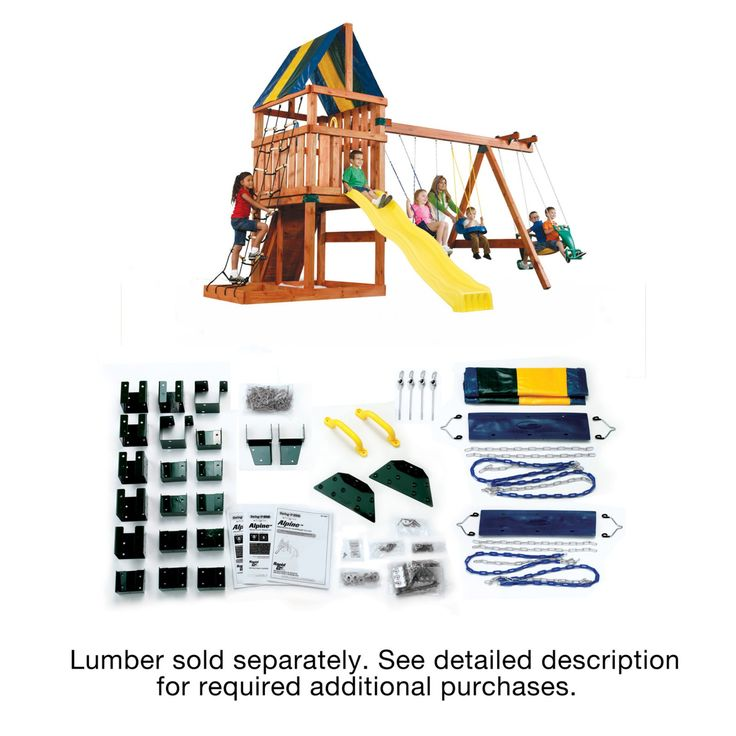 Swing-N-Slide Alpine Swing Set Kit - Lumber not included - WS 5007
