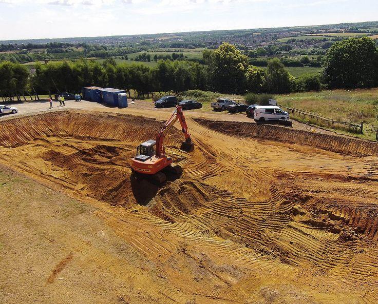 BIGBURY HOLLOW (PPS 7). The excavation work has begun at Bigbury Hollow, an underground house in Canterbury.